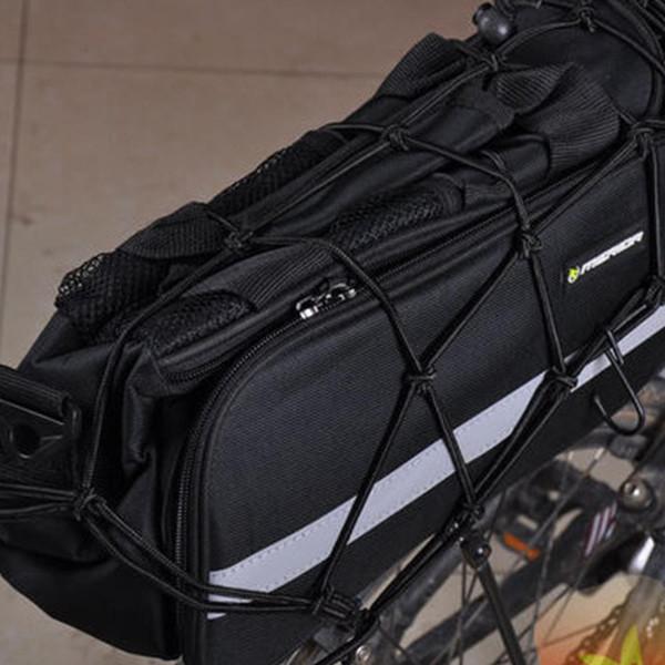 LumiParty Heavy-Duty Cargo Net Radfahren Tasche für Motorräder ATVs Bike Bungee Stretch-Gepäck Helm Net mit 6 Haken