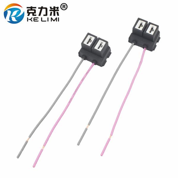 KELIMI H7 LED HID Adaptadores halógenos Cables del cable del arnés de cableado Luces antiniebla para automóviles H7 Enchufe de cerámica Cable de conexión flexible