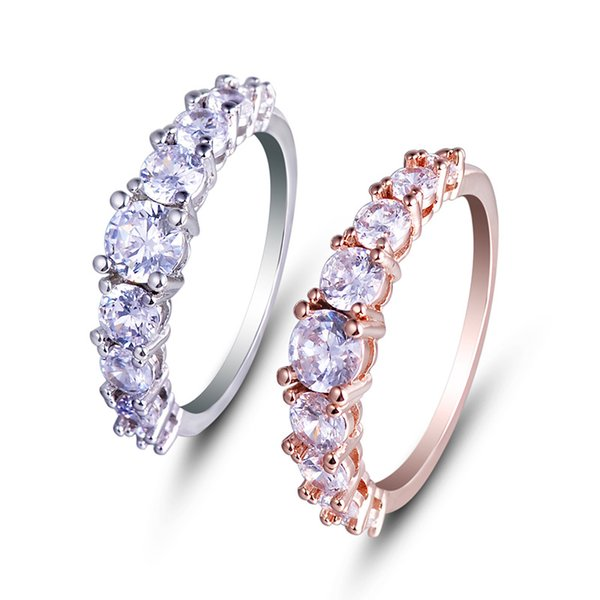 Fashion Jewelry Wholesale Gemstone Fashion Ring Finger Eternity Rings Photos YH-159