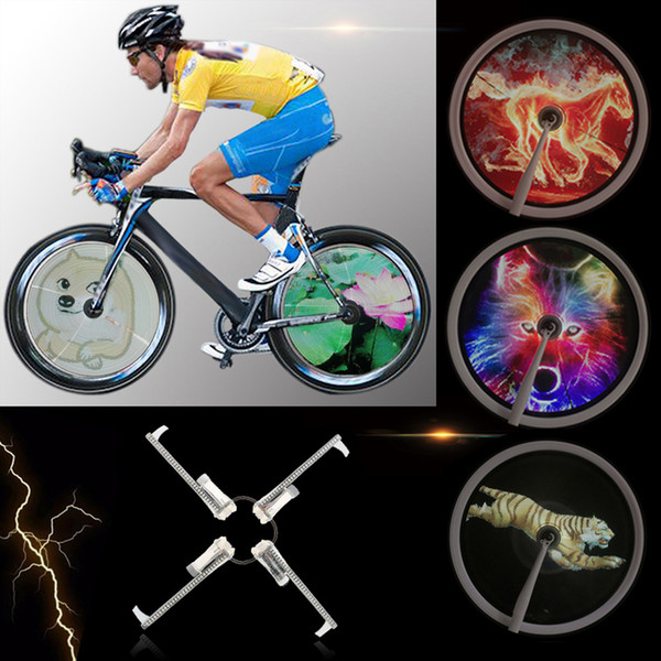 256/416pcs LED DIY Bicycle Lights Colorful Bike Spoke Wheel Light Motor MTB Display Hub Programmable Light Lamp For Night Riding