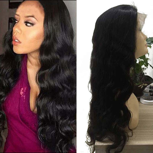 Body Wave Lace Front Wigs-Glueless Virgin 150 Density Brazilian Peruvian Wet and Wavy Virgin Human Hair Wig for Black Women Natural Hairline