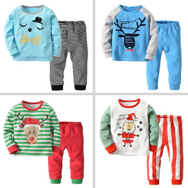 Personalized Christmas Pajamas Kids.Cute Christmas Pajamas Sets Two Pieces Boys Girls Christmas Pajamas 6 Design Patterns Cotton Kids Christmas Pajamas 18081702 Pajamas For Kids Girls