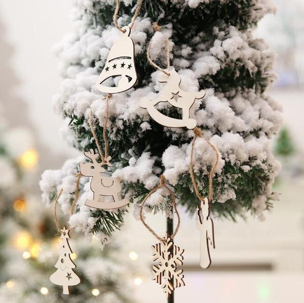Acquista Pendenti In Legno Pendenti Fai Da Te Fatti A Mano Ornamenti Natalizi Decorazioni Feste Di Natale Ornamenti Alberi Di Natale Regali Bambini A