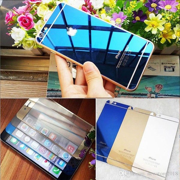 hot sell Mirror Effect Front+Back Sticker Tempered Glass Screen Protector For iPhone 6 6P