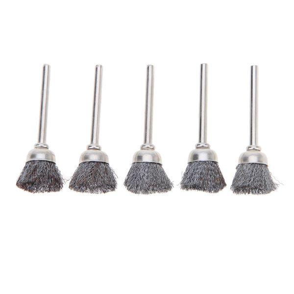 10pcs Stainless Steel Wire Wheel Brushes Set Kit Dremel Accessories for Mini Drill Rotary Tools Polishing dremel Brush