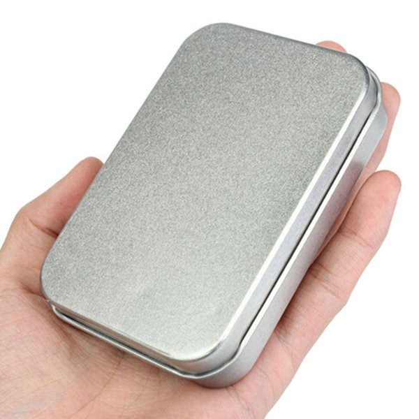 Survival Kit Tin Small Empty Silver Metal Storage Box Case Organizer For Money Coin Candy Keys