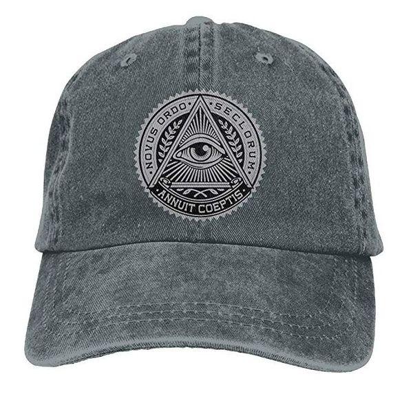 56905638e2b Illuminati Adult Cowboy Hat Baseball Cap Adjustable Athletic Custom Printed  New Hat for Men and Women
