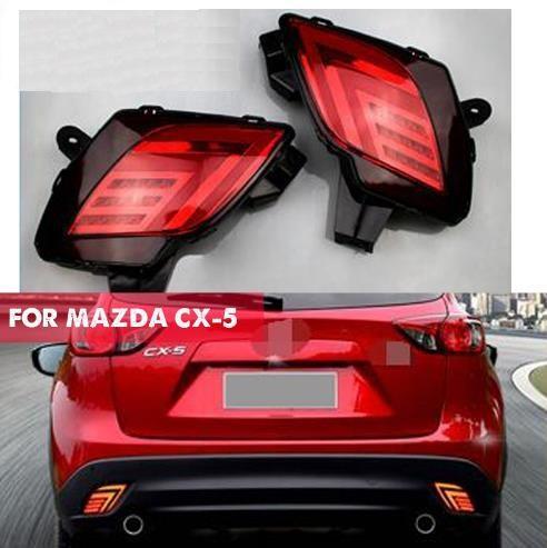 2 STÜCKE Für Mazda CX-5 CX5 2013 - 2016 Multifunktions-Auto LED Rücklicht Heckstoßstange Licht Nebelschlussleuchte Bremslicht Reflektor