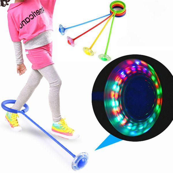 Yaratıcı Renkli çocuk LED Flaş Atlama Halkası Dans Topu Parlayan Spor Eğitici Oyuncaklar Komik Oyun Açık Spor