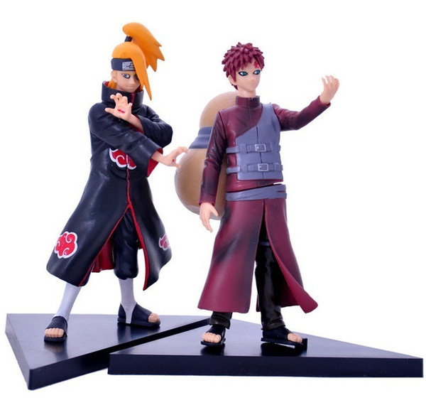 HOT 2pcs/set Naruto Deidara VS Gaara Action Figures PVC action figure Model Toys good collection model toy