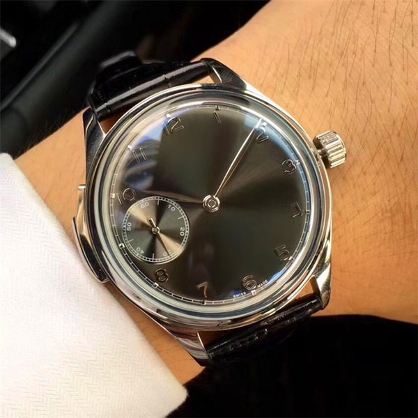 44mm Men's Watches Wristwatches Stainless Steel Case Leather Bands White Face Waterproof Mechanical Hand-Winding Movement Fashion Watches I7
