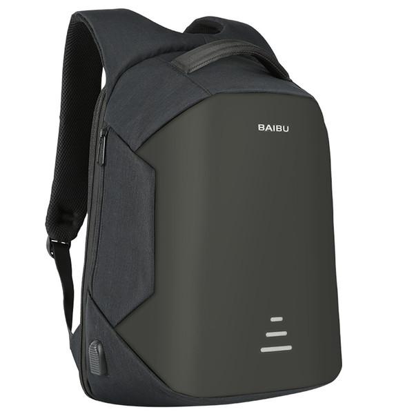 best selling BAIBU NEW Men 15.6 Laptop Backpack Anti Theft Backpack Usb Charging Women School Notebook Bag Oxford Waterproof Travel Backpack