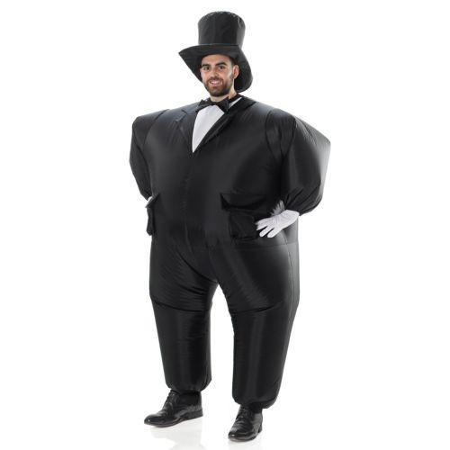 AirSuits Inflatable Tuxedo Groom Suit Fancy Dress Costume Party Outfit magician cosplay costume for Halloween Purim Party event