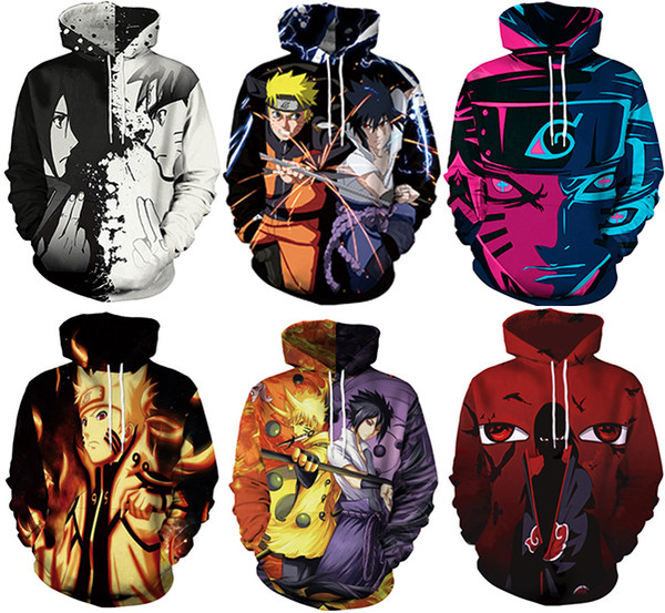 new cartoon character naruto assist Men 3D Print Hoodies Sweater Sweatshirt Jacket Pullover Top digital printing shirt #197