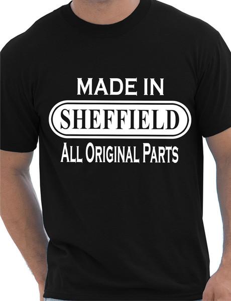 Made In Sheffield da Sheffield Regalo Mens T Shirt Taglia S-XXL 2018 Nuovo marchio Divertente Tee Print 2017 Nuovo tempo libero cotone maniche corte da uomo