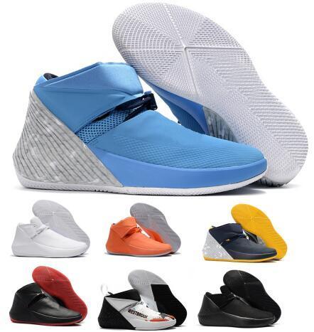 Russell Westbrook Pourquoi pas Zer0.1 George Adams Miroir Image North Carolina Chaussures de basket Zero One Noir Blanc Gris All Star Gris Sneakers
