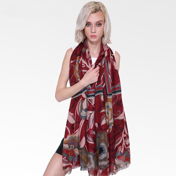 Frame Soft Cotton Linen Scarfs Floral Print Women Long Ladies Scarves Shawls Hijab Large Pashmina Foulard Femme Winter Warm