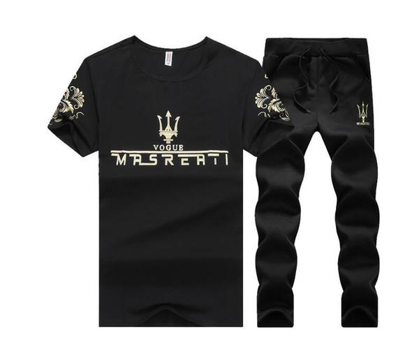 Erkekler Için eşofman Set 2018 Yaz Rahat Polo Takım Elbise Tops Şort erkek Standı Yaka Moda Marka 2 Parça Sportsuits