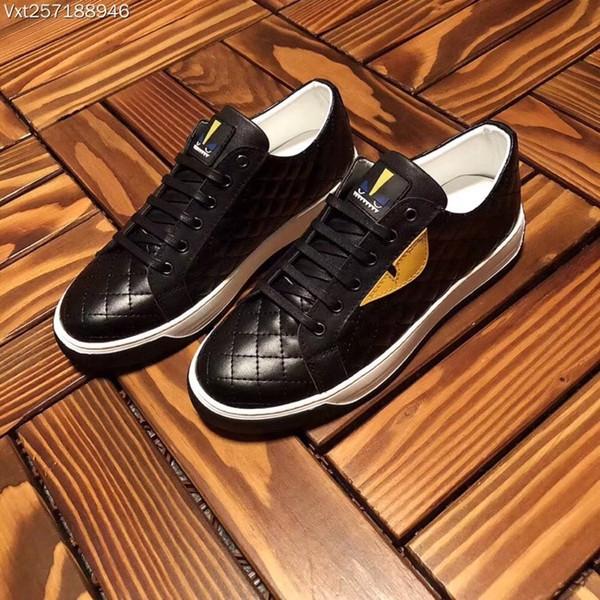 Sapatos masculinos de Luxo Da Marca de Couro Genuíno Casuais Flats Sapatos de Condução Dos Homens Mocassins Mocassins Italiano Pequenos monstros branco sapatos casuais