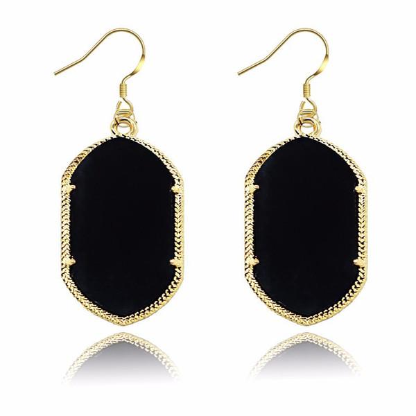 European&American Brand designer Dangle Earrings Geometric Solid color Big Drop Earring For women & Ladies Fashion Jewelry accessories