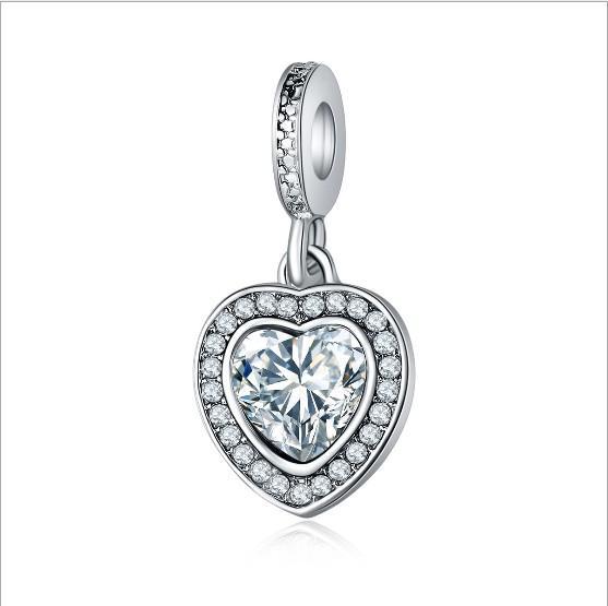 493a384cb Crystal Dangle Pendants Fit Charms Bracelet Wholesale Designs for Girls Mom  Beads Fit Pandora Bracelets Spacer