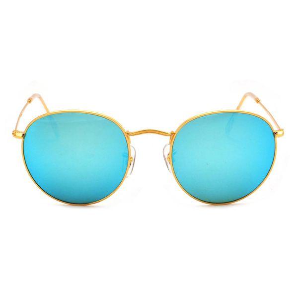 Fashion Unisex Ready Stock Glass Lenses Sunglasses