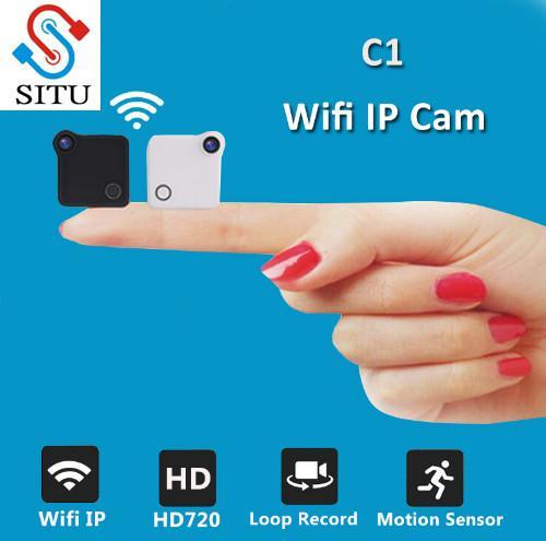 Telecamera mini C1 Wifi Telecamera IP 720P HD Telecamera H.264 P2P Sensore di movimento Micro Videocamera digitale Camcorder wireless