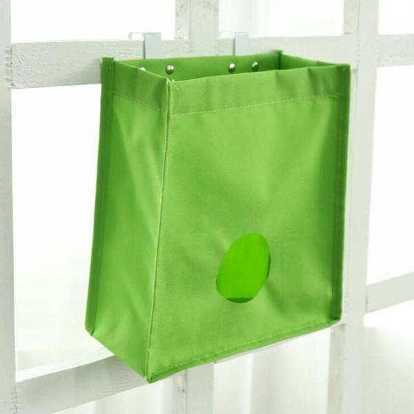 1 unid nuevo organizador de dispensador de cocina bolsas de almacenamiento montadas en la pared pequeños gadgets percha bolsillos de malla bolsa de basura
