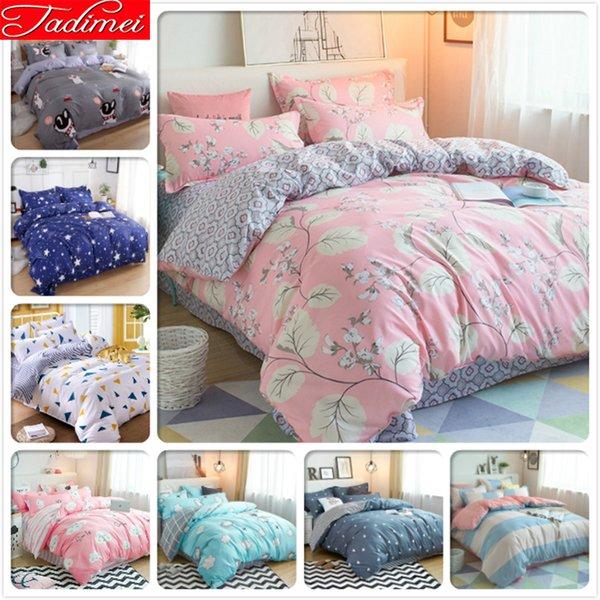 Soft Bettwäsche Set Erwachsene Bettwäsche Doppel Queen King Size Quilt Tröster Bettbezug 180x220 200x230 220x240 Tagesdecke Top Qualiy