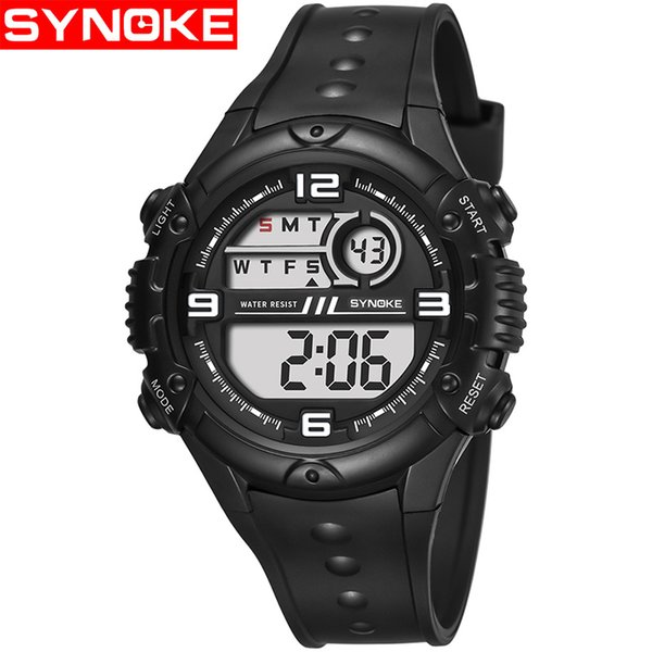 Fashion Men Watches White Sport Watch LED Digital 50M Waterproof Casual Watch S Male Clock Relogios Masculino Watches Man