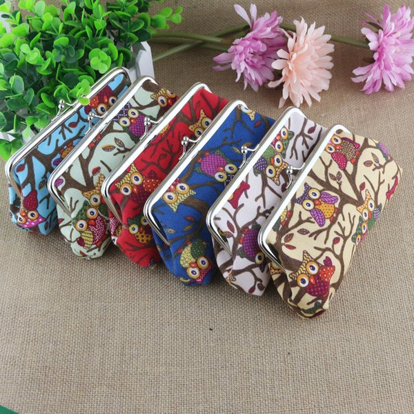 Hot sale 6 colors Korean style creative coin purse owl pattern Lady Wallet portable Coin purse T3D00026