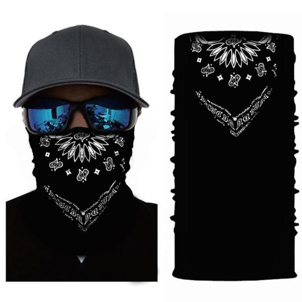 Polyvalence sans couture Snood Hip Hop Bandana Bandulaire pour le visage Bague Écharpe Bandeaux Élastiques Paisley Mouchoir Babushka