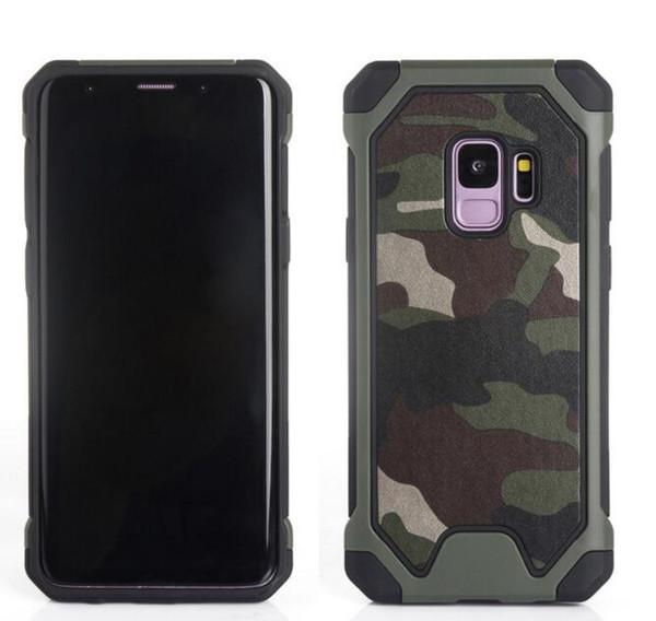 Militaire camouflage antichoc silicium armure defender cas pour Samsung Galaxy s9 s8 plus note 5 4 s7 bord couverture de luxe téléphone shell cas