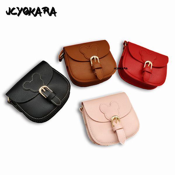 JCYOKARA Baby Girls Exquisite Cute Messenger Bag Toddler Kids Small Bear Coin Purse Girl Mini Fashion Shoulder Bag 4 Colors