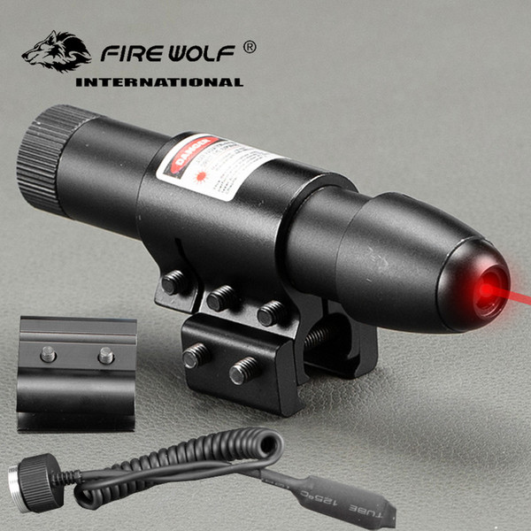 Caccia Laser Red Dot Scope Compact Tactical RedGreen Laser Sight w / Barrel Mounts 20mm / 11mm Rail Montaggi