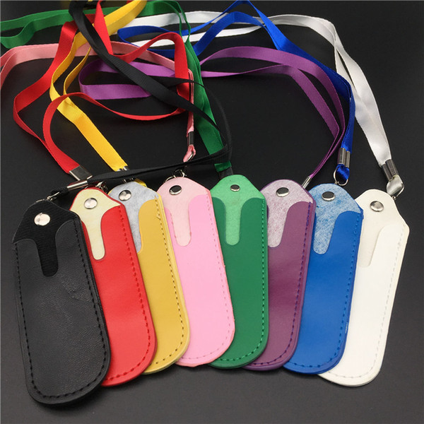 2018 High quality E Cig Leather Lanyard For Electronic Cigarette eGo CE4 EVOD EGO T DHL Free