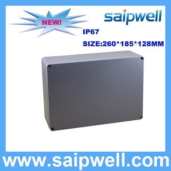 IP67 DIE CAST ALUMINUM WATERPROOF BOX WITH 4 SCREWS 260*185*128MM SP-AG-FA67
