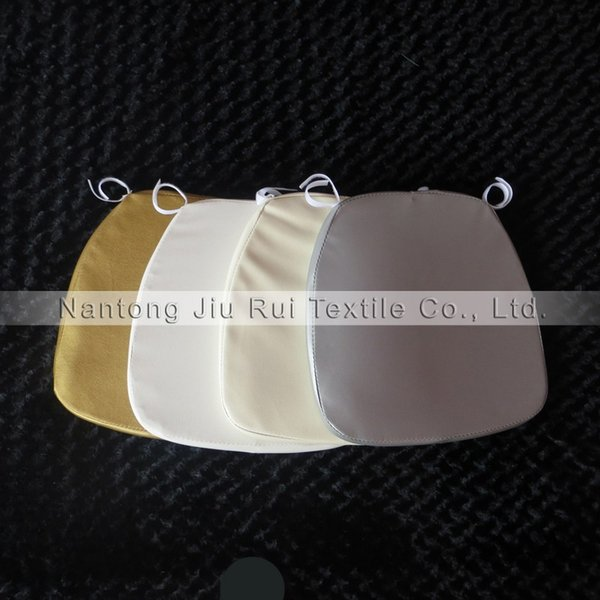5pcs A Lot Free Shipping Chiavari Chair Leather Cushion White/Gold/Ivory/Sliver For Wedding Chair Use