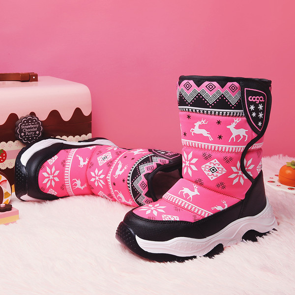 Christmas Boots For Girls.Christmas Baby Shoes Hot Sale 2018 Winter Kids Medium Cotton Boots Children Thicken Warm Waterproof Snow Boots Boys Girls Christmas Boots Toddler
