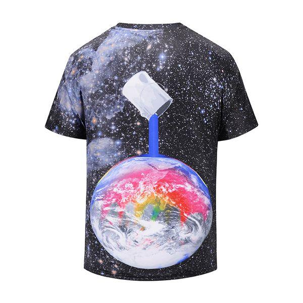 2018 summer jacket digital planet 3d printing t bang street youth short sleeve large yards half sleeve