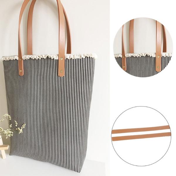 1pair 60cm Women Faux Leather Durable Shoulder Bags Detachable Belt Handle DIY Replacement Handbag Strap New