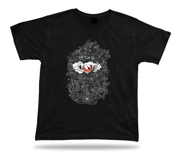 Eye Floral Rose Peeking Eyeball vector modern design stylish apparel special teeMens 2018 fashion Brand T Shirt O-Neck