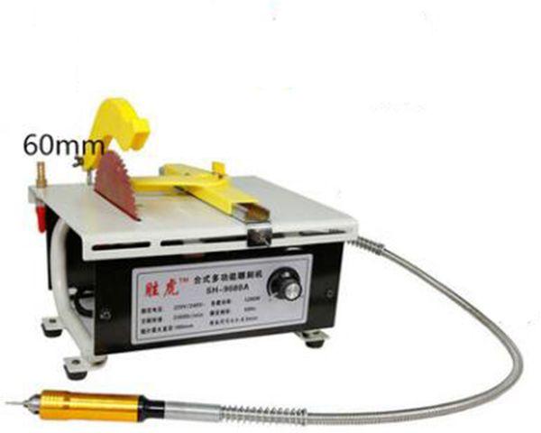top popular BG-3119A mini Strong Micro Table Saw, Jade Wood Cutting Machine, Mini 1380W High Power 2021
