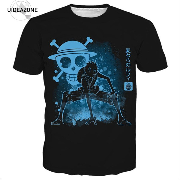 One Piece New Luffy Skull T Shirt T-shirt Hombres Mujeres 2018 Nueva Moda Hip Hop Streetwear Graphic Summer Tops Tees 3D Tshirt