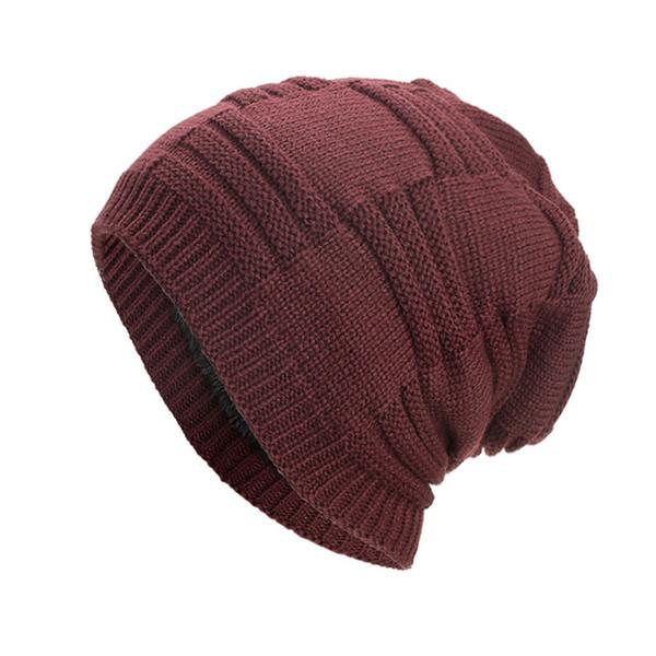 b6d8291c722 Women Beanie Men Knitted Warm Hats Winter Baggy Weave Crochet Wool Knit Ski  Beanie Skullies Women
