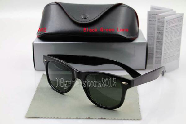Bright black frame green lens