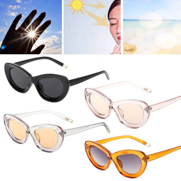 Cat Eye Sunglasses Candy Color UV400 Protective Large Frame Chic Fashion Eyewear