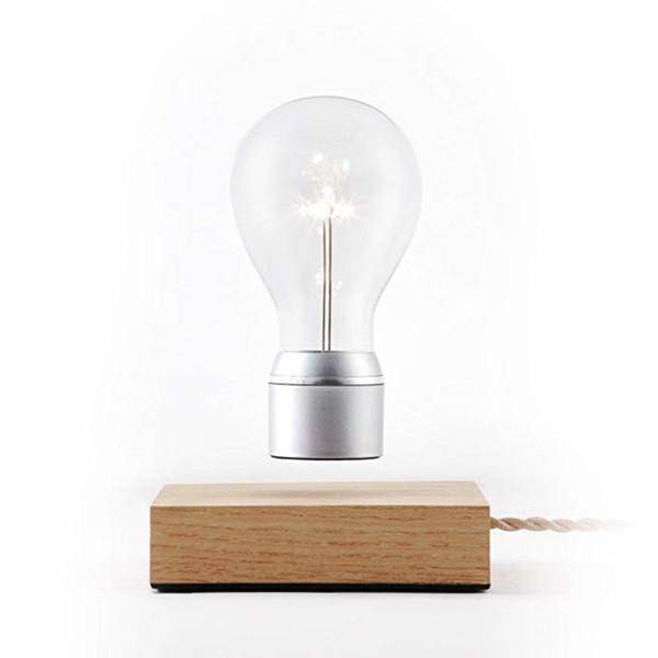Fantasy wood base magnetic levitatiing bulb Levitating light bulb, levitating wireless light bulb Hot sale fly lamp levitating magnetic lamp