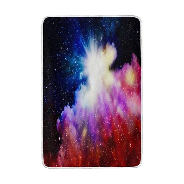 Birth of Colorful Nebula Blanket Soft Warm Cozy Bed Couch Lightweight Polyester Microfiber Blanket