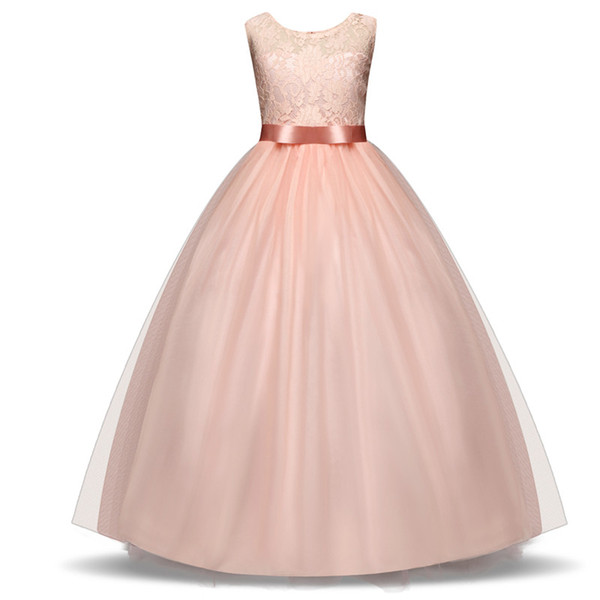 Children Flower Wedding Dress Teenager Girls Graduation Gowns Party Ball Dresses Infant Costume Tutu Formal Clothes For Birthday Communion
